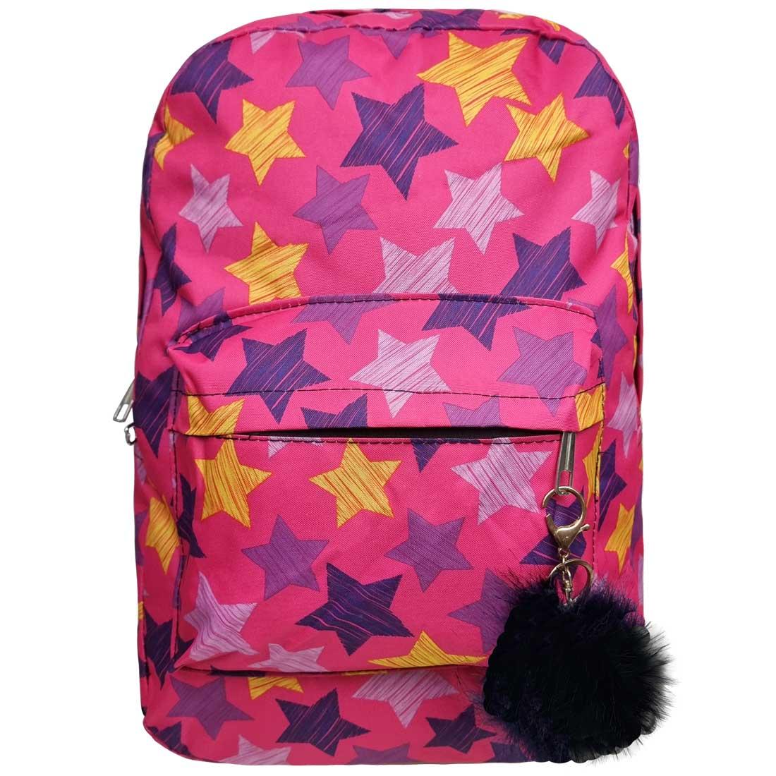 Mochila Estampada com Estrelas - Pink