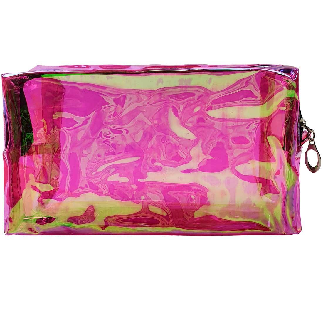 Necessaire Holográfica Translúcida - Pink