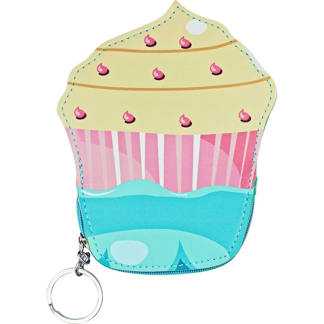 Porta Moedas Chaveiro Cupcake - Amarelo