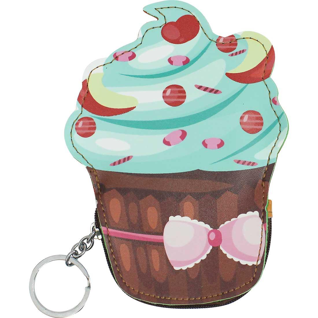 Porta Moedas Chaveiro Cupcake - Marrom