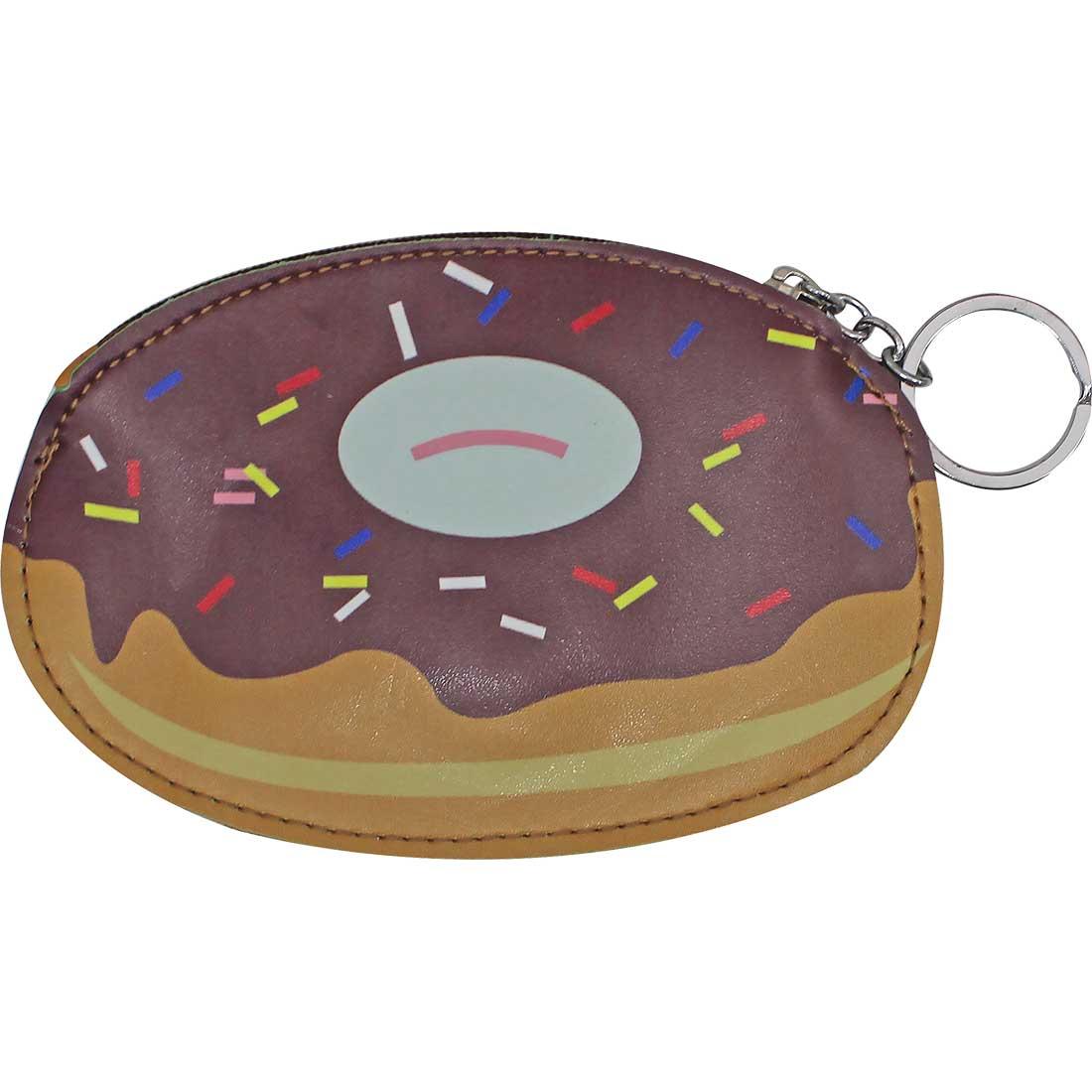 Porta Moedas Chaveiro Donut - Marrom e Bege