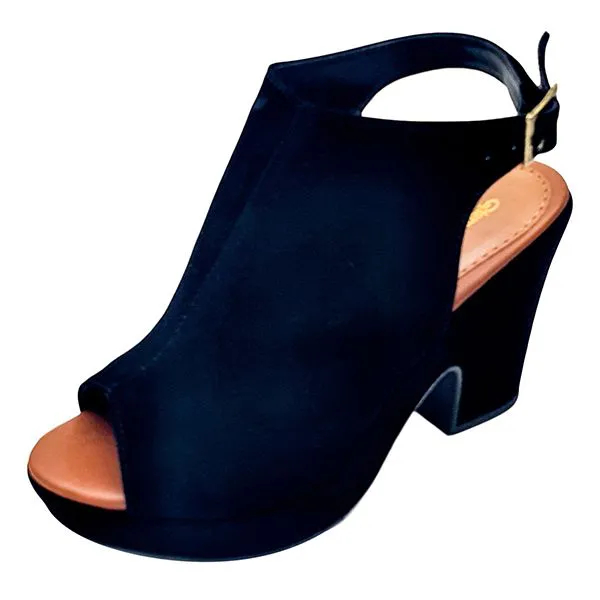 Sandal Boot em Nobuck - Preto