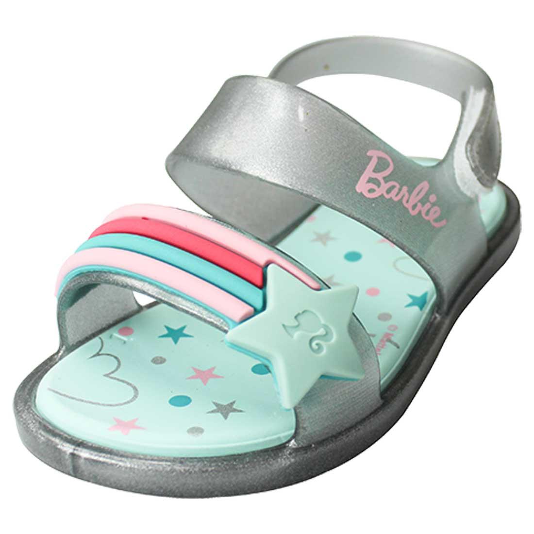 Sandália Baby Barbie Beauty - Prata