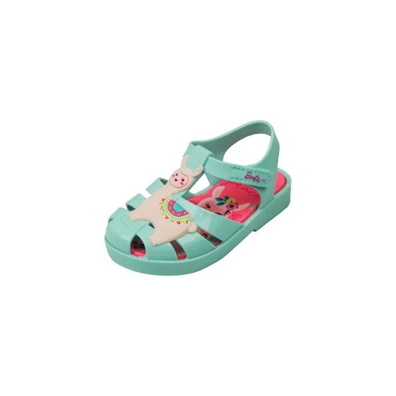 Sandália Baby Barbie Love - Verde Água