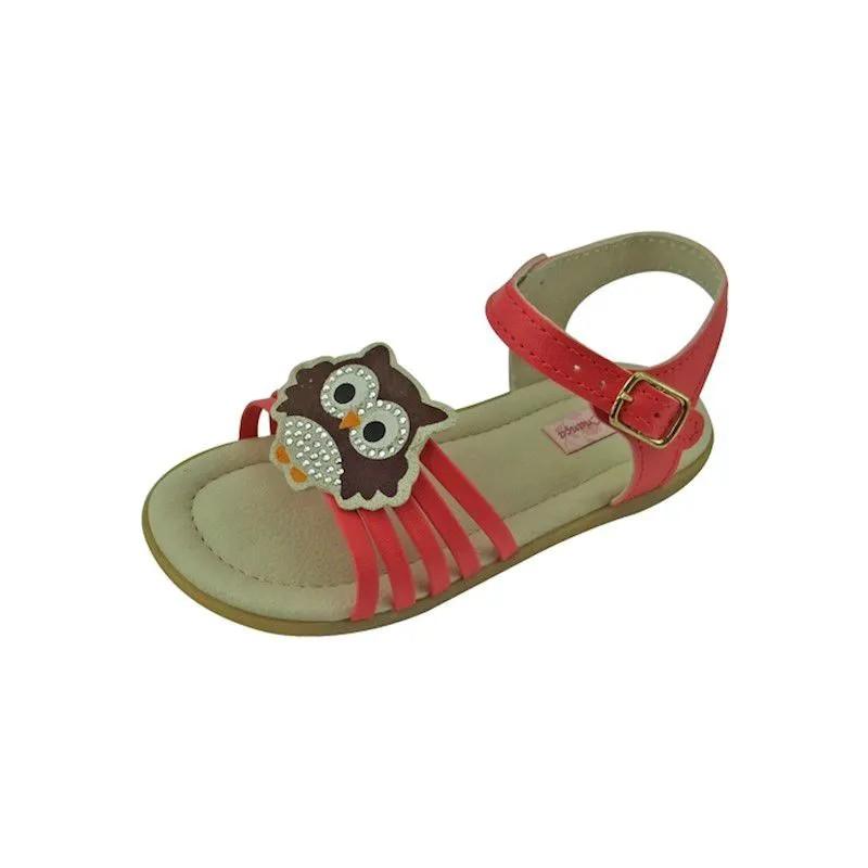 Sandália Baby de Coruja - Coral