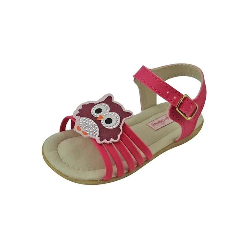 Sandália Baby de Coruja - Pink