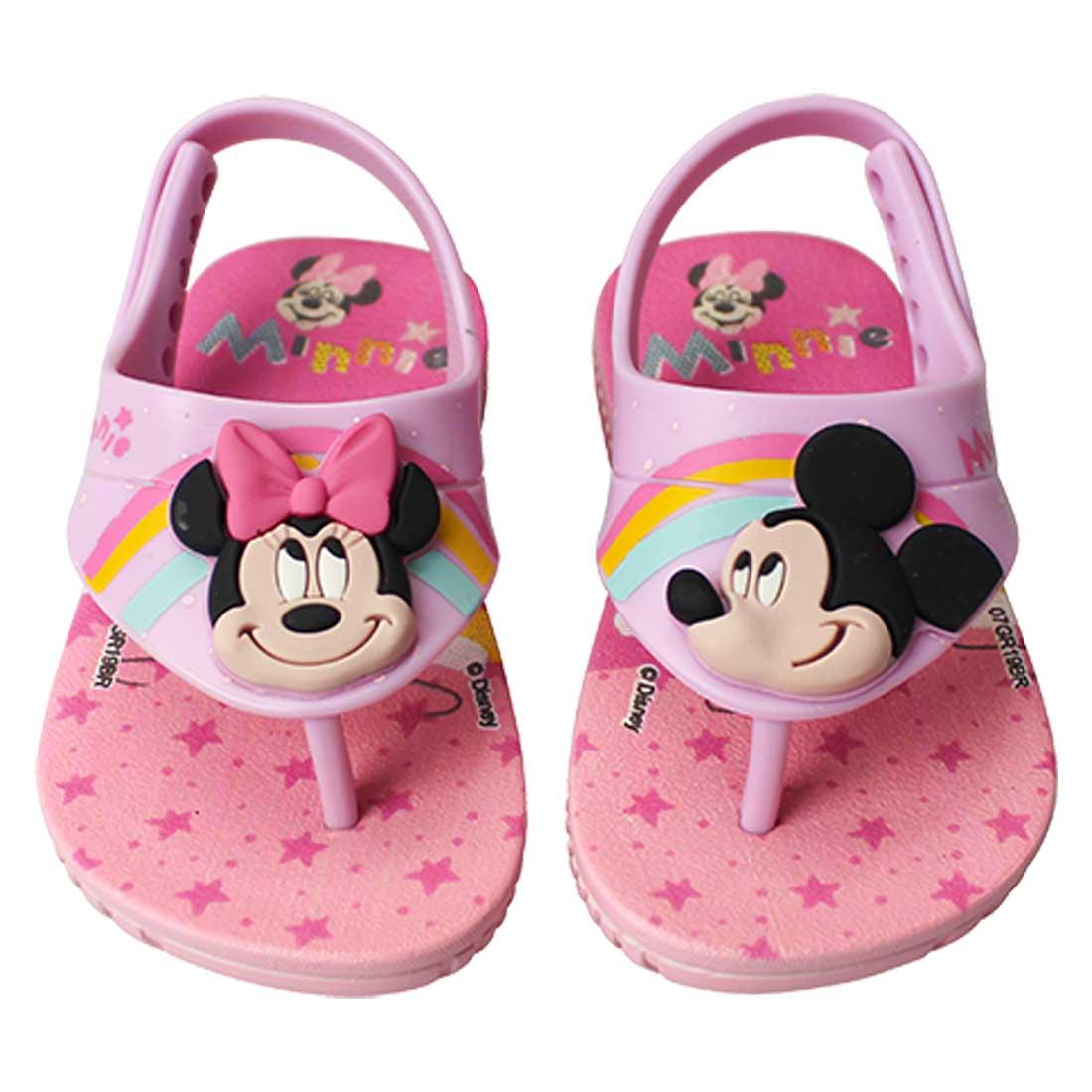 Sandália Baby Disney Cute Fun - Rosa Bebê