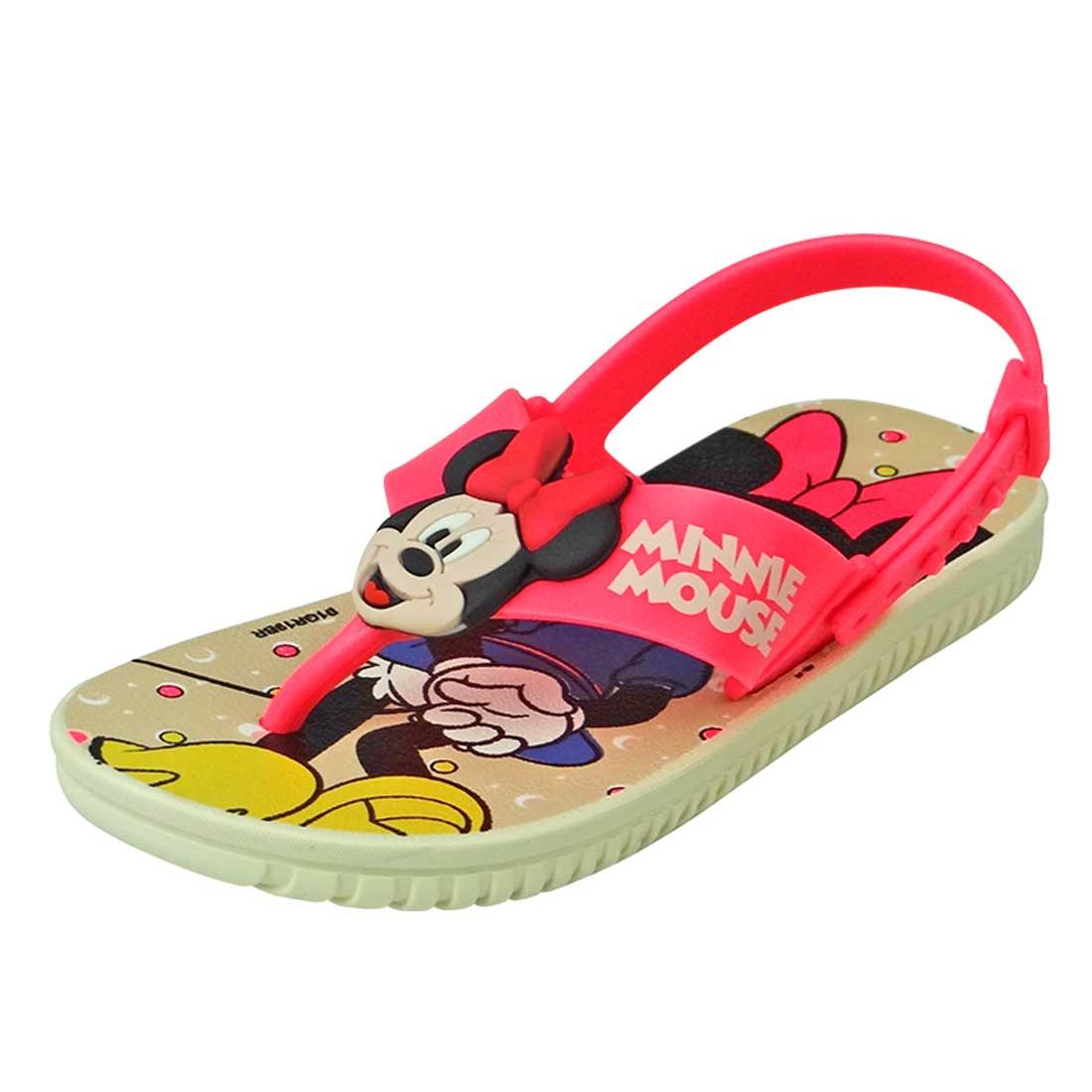 Sandália Baby Disney Friend Minnie Mouse - Bege e Rosa