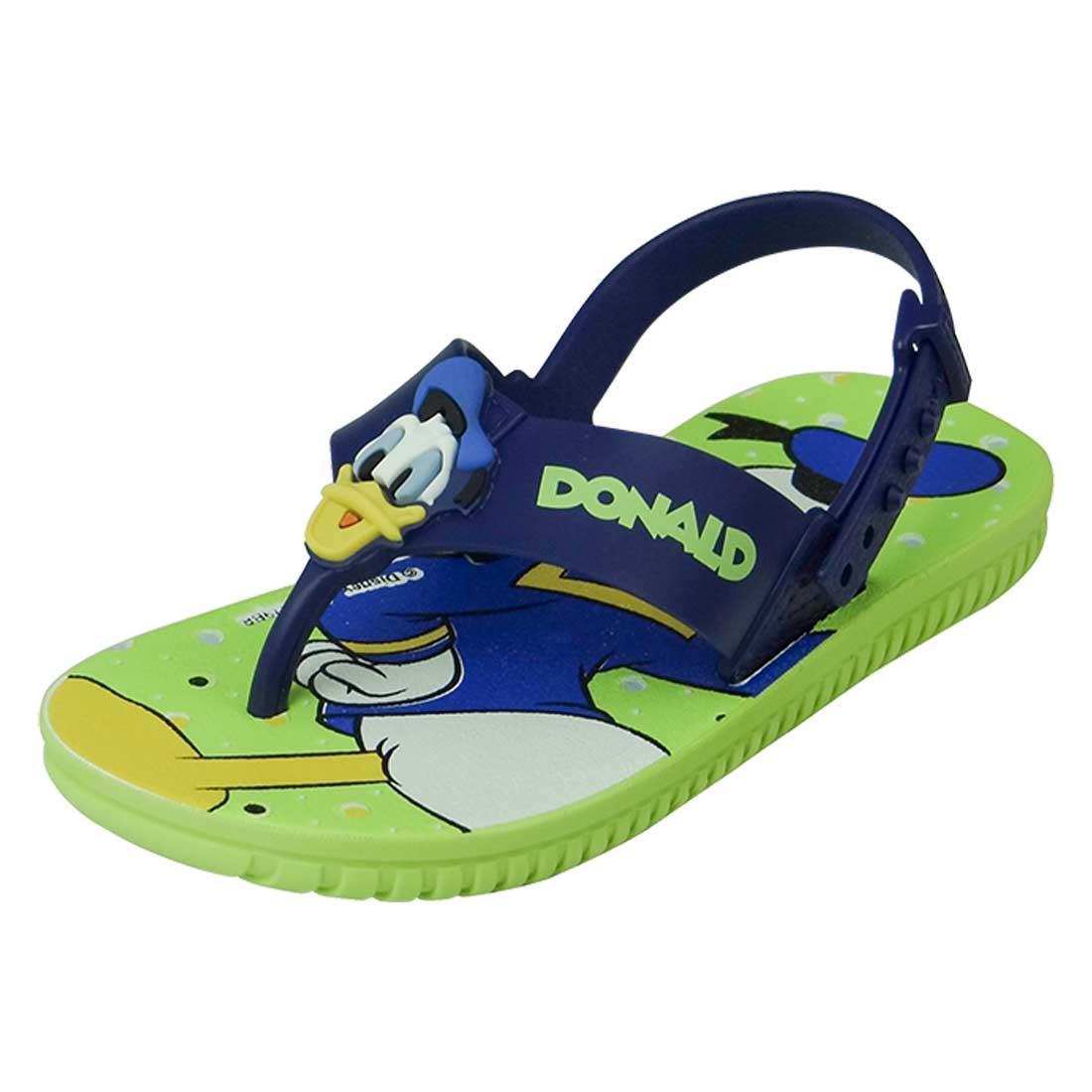 Sandália Baby Disney Friend Pato Donald - Verde e Azul
