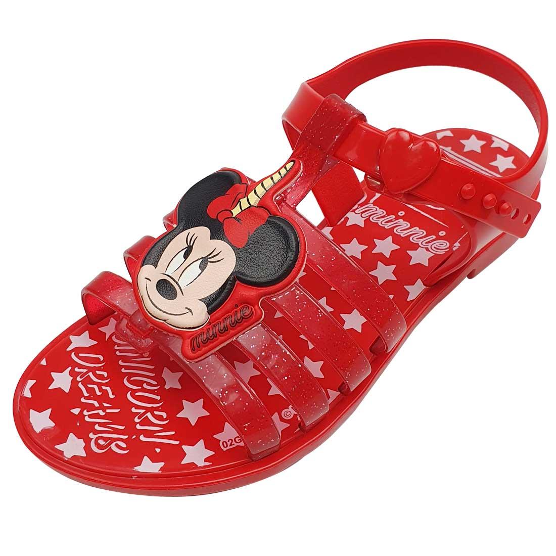 Sandália Baby Disney Magical Minnie Mouse - Vermelho
