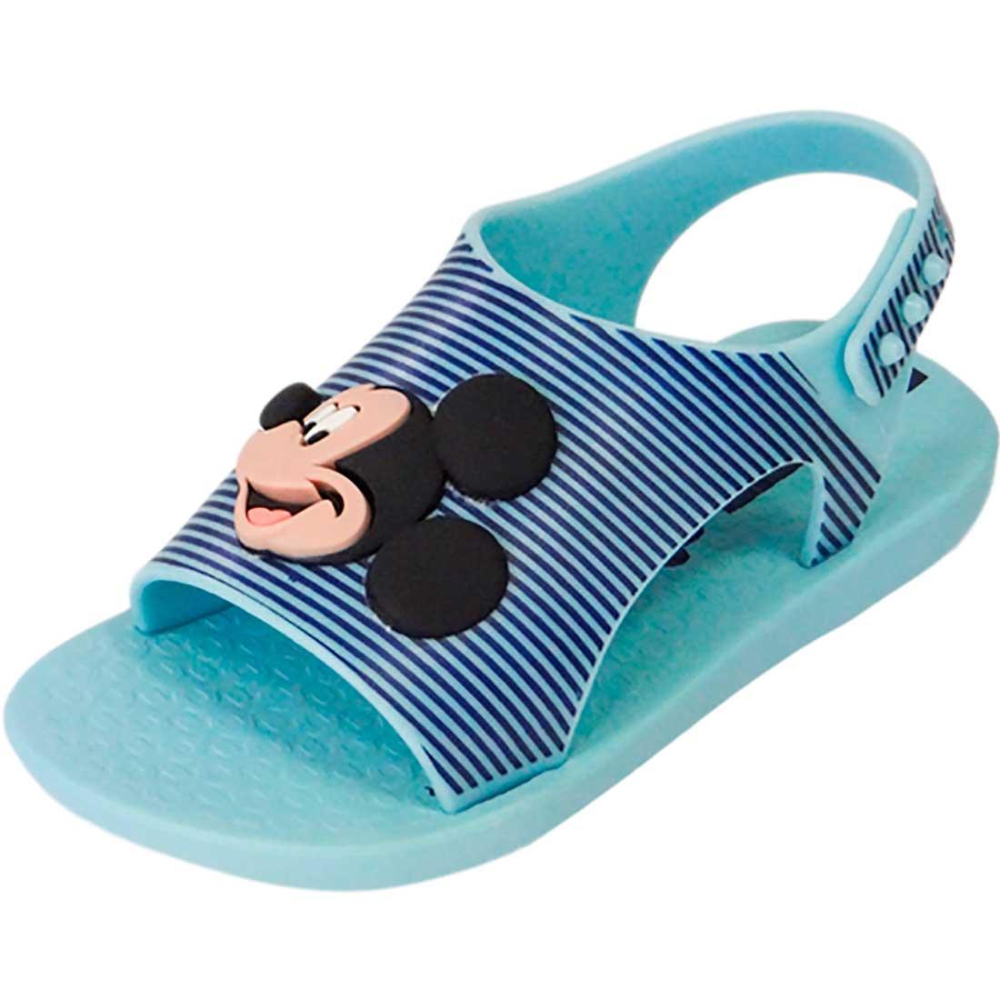 Sandália Baby Disney Mickey - Azul Bebê
