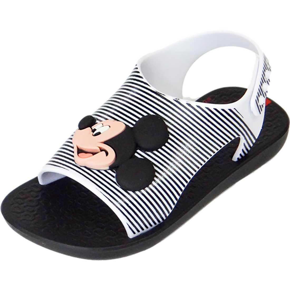 Sandália Baby Disney Mickey - Preto e Branco