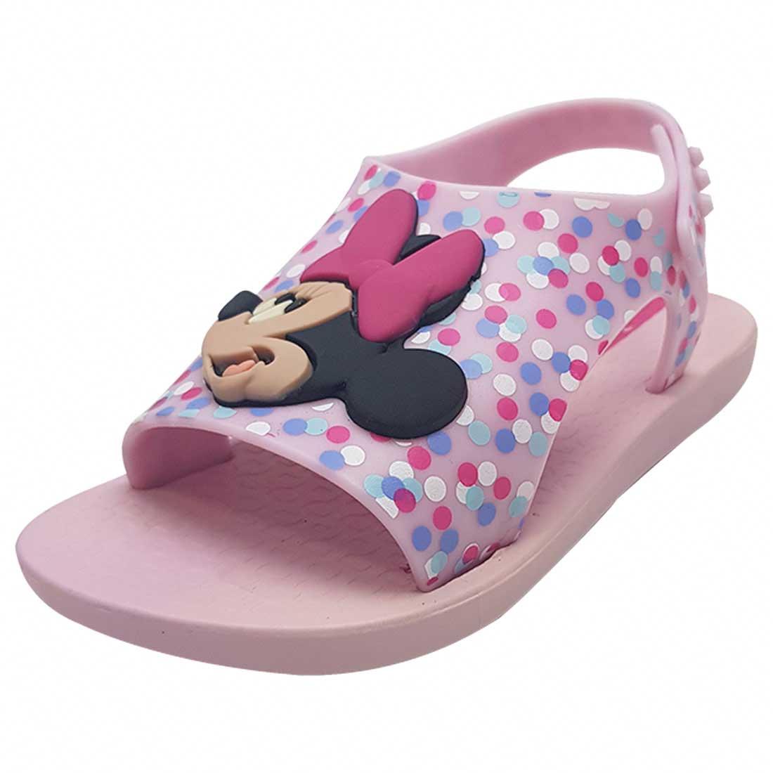Sandália Baby Disney Minnie - Rosa