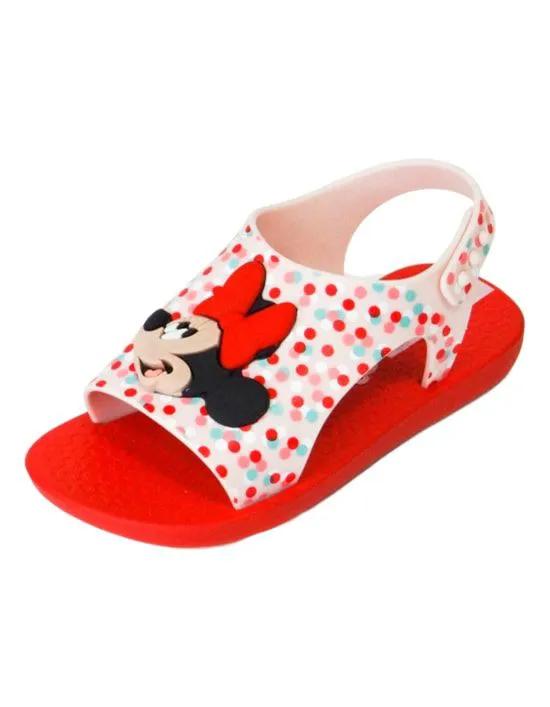 Sandália Baby Disney Minnie - Vermelho