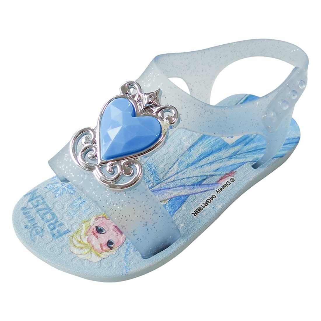Sandália Baby Disney Princesa - Azul Bebê