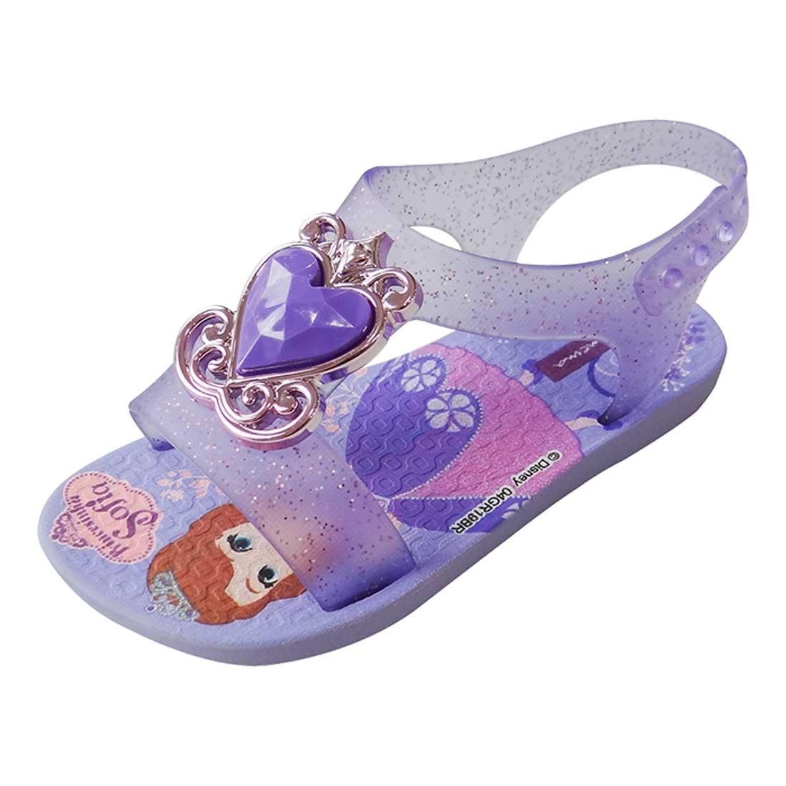 Sandália Baby Disney Princesa - Lilás