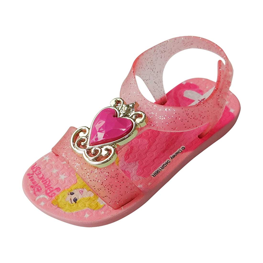 Sandália Baby Disney Princesa - Rosa Bebê