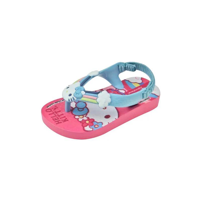 Sandália Baby Hello Kitty - Azul e Rosa