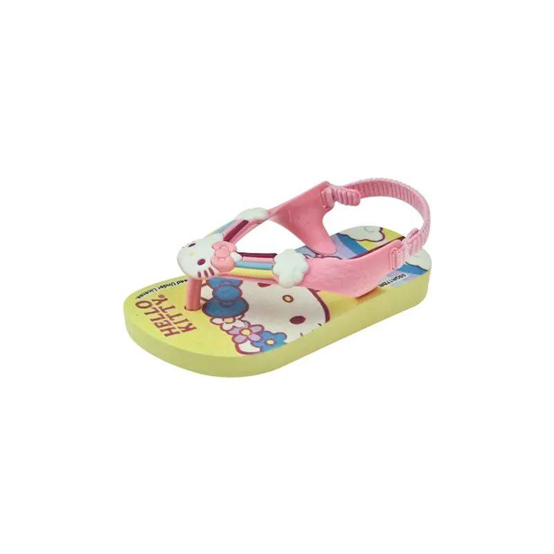 Sandália Baby Hello Kitty - Rosa e Amarela