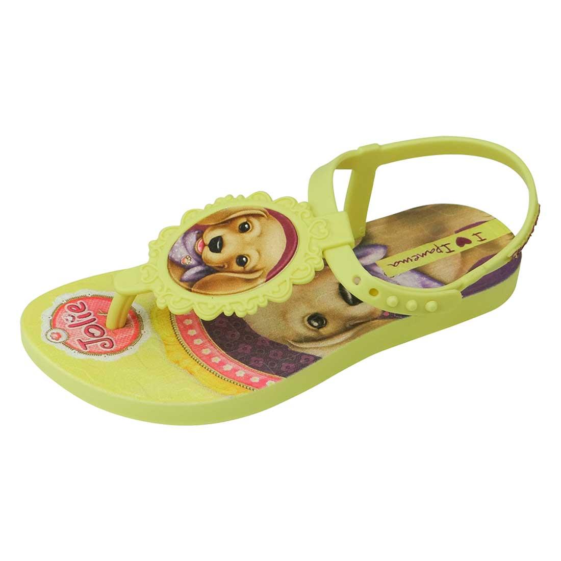 Sandália Baby Jolie Pets - Amarela