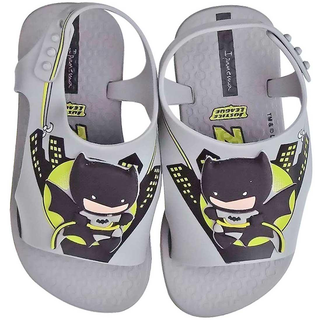Sandália Baby Liga da Justiça Batman - Cinza