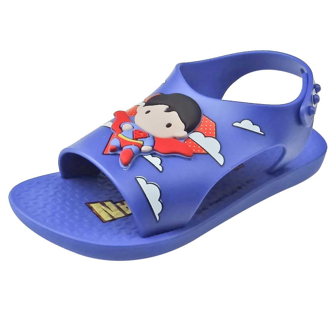 Sandália Baby Liga da Justiça Super Homem - Azul