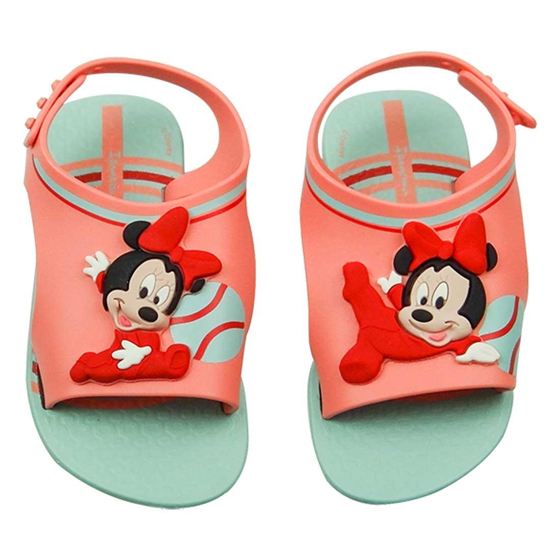 Sandália Baby Love Disney -  Coral e Verde