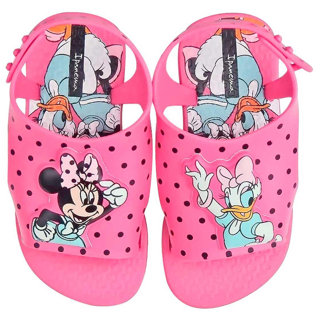 Sandália Baby Love Disney - Rosa