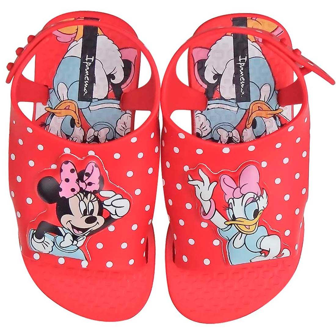 Sandália Baby Love Disney - Vermelha