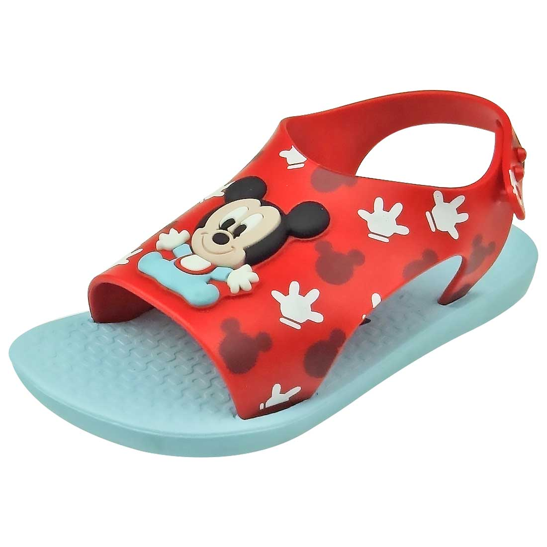 Sandália Baby Love Disney -  Vermelho e Azul