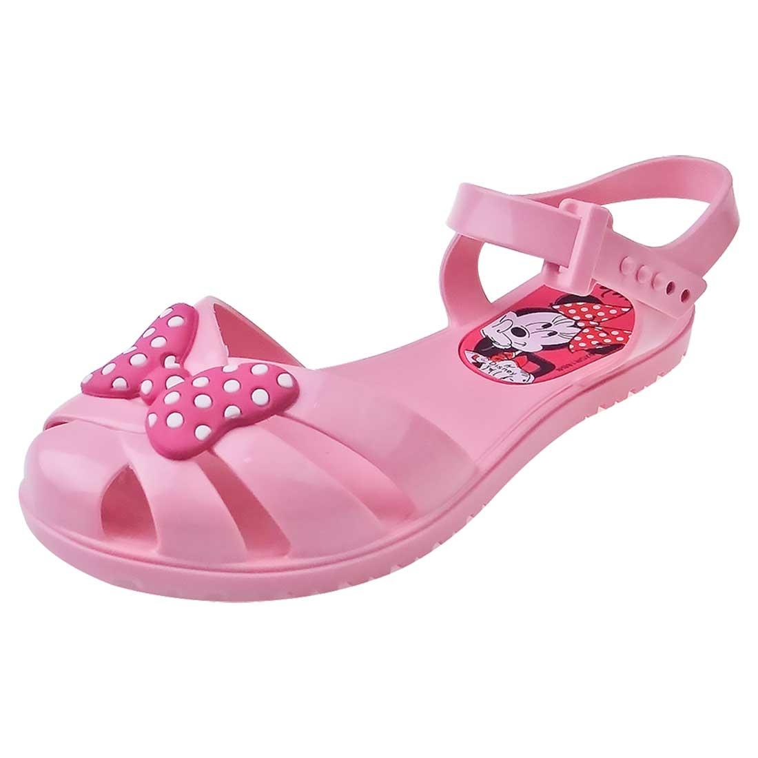 Sandália Baby Minnie Mouse - Rosa
