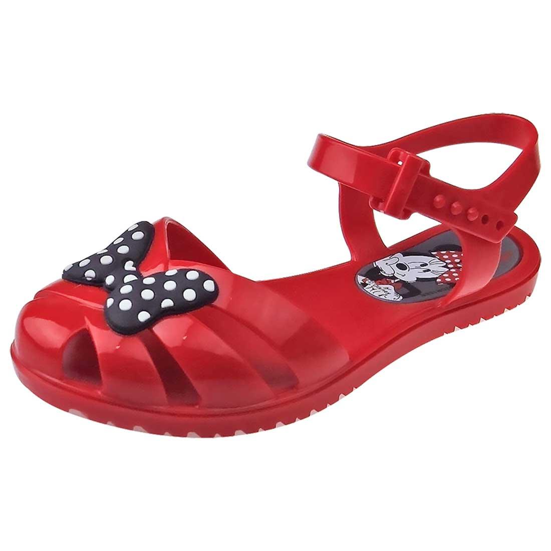 Sandália Baby Minnie Mouse - Vermelha