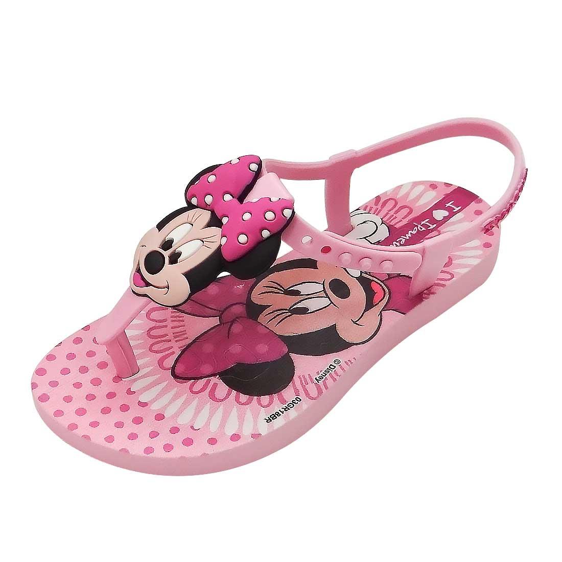 Sandália Baby Minnie - Rosa
