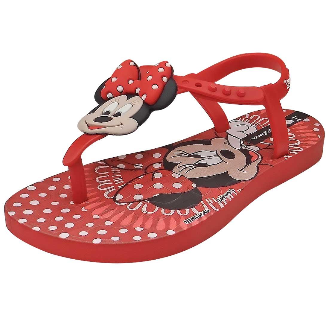 Sandália Baby Minnie - Vermelha