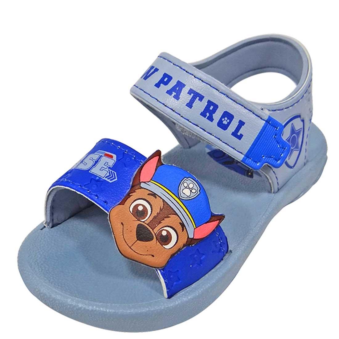 Sandália Baby Paw Patrol Chase - Cinza e Azul