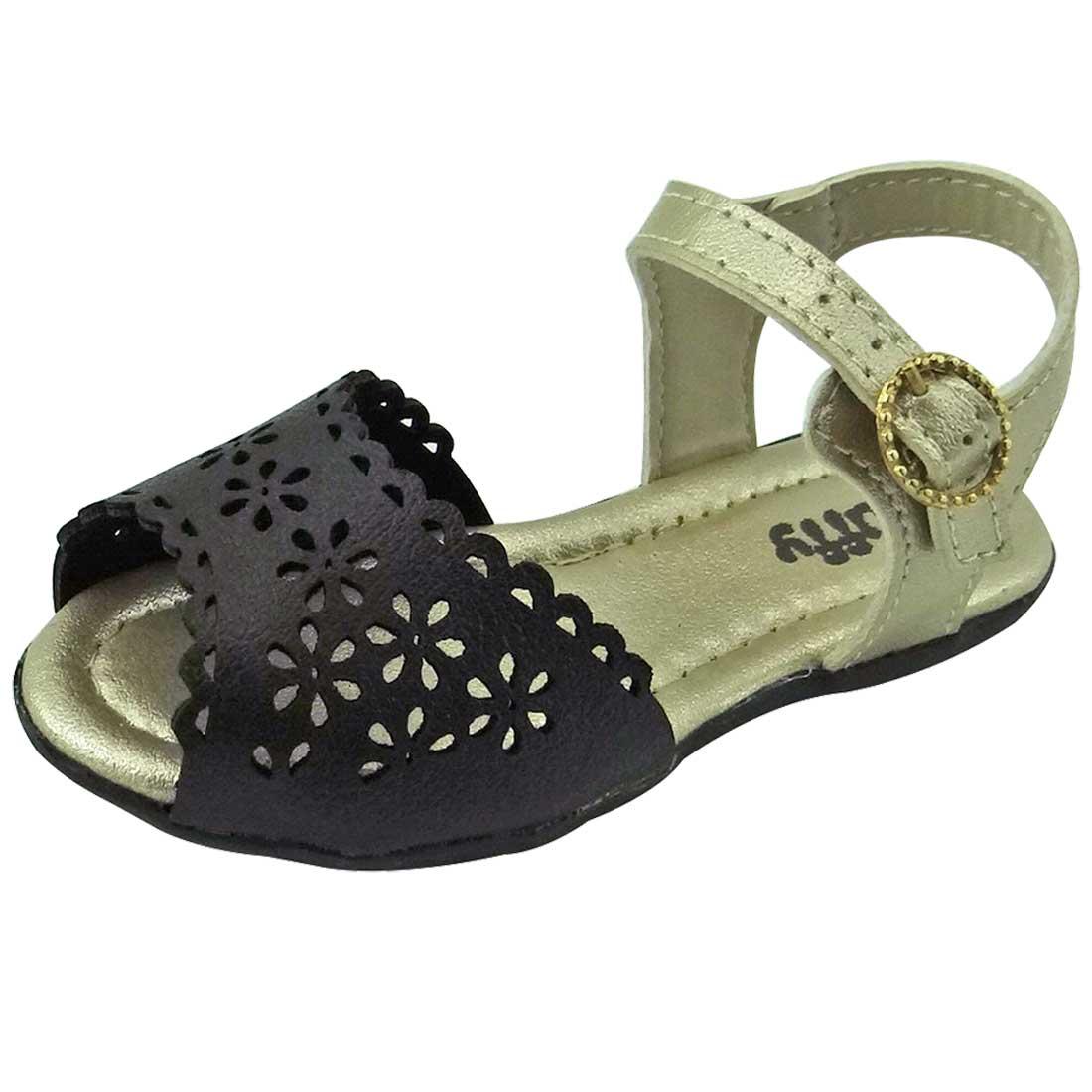 Sandália Baby - Preto e Dourado
