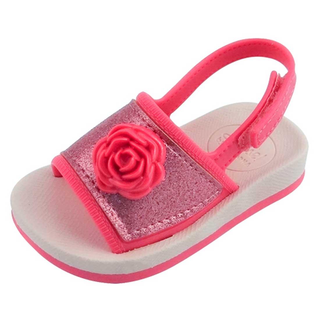 Sandália Baby Sense IV - Pink e Rosa com Glitter