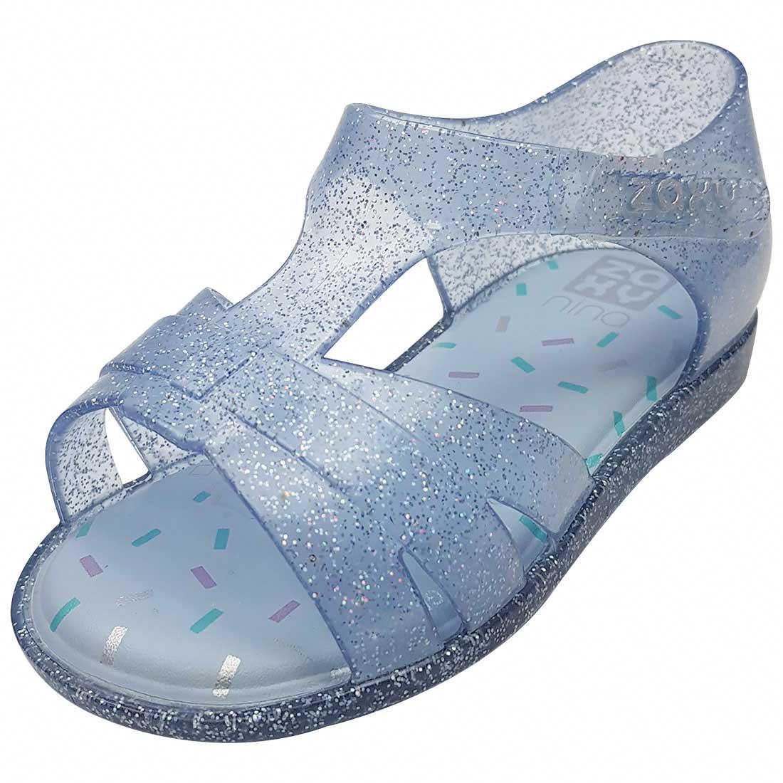 Sandália Baby Zaxy Nina - Azul Glitter