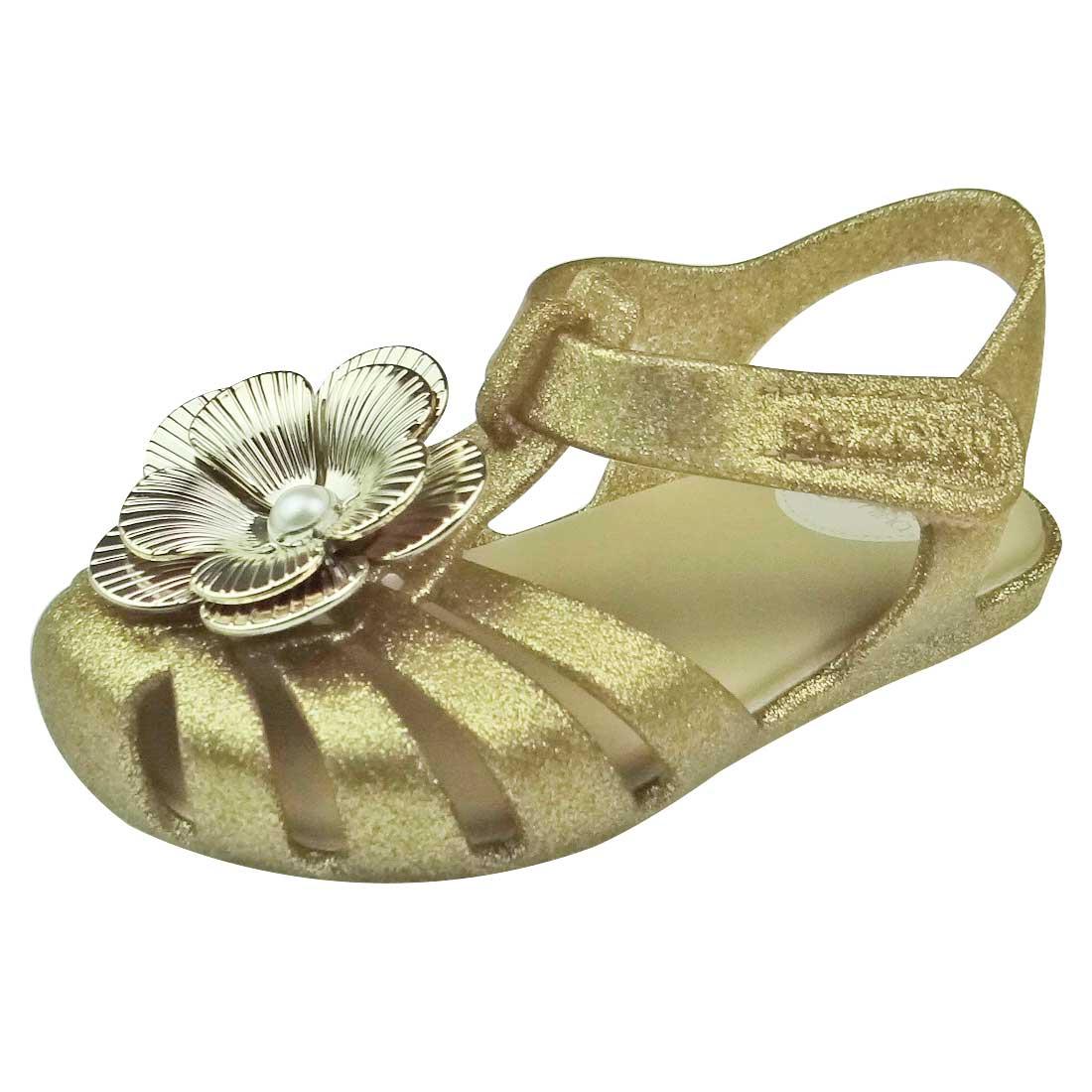 Sandália Baby Zaxynina Carinho Glitter - Ouro