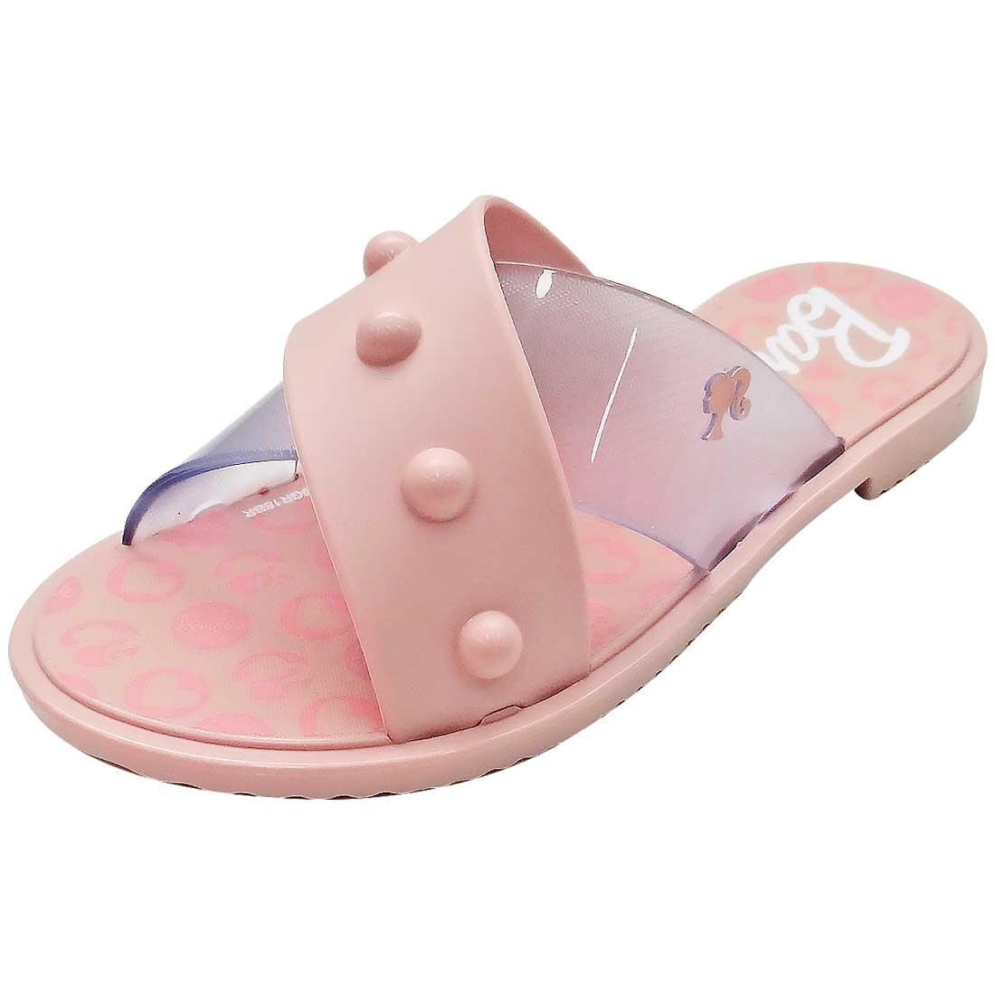 Sandália Barbie Glam - Rosa Bebê e Cristal