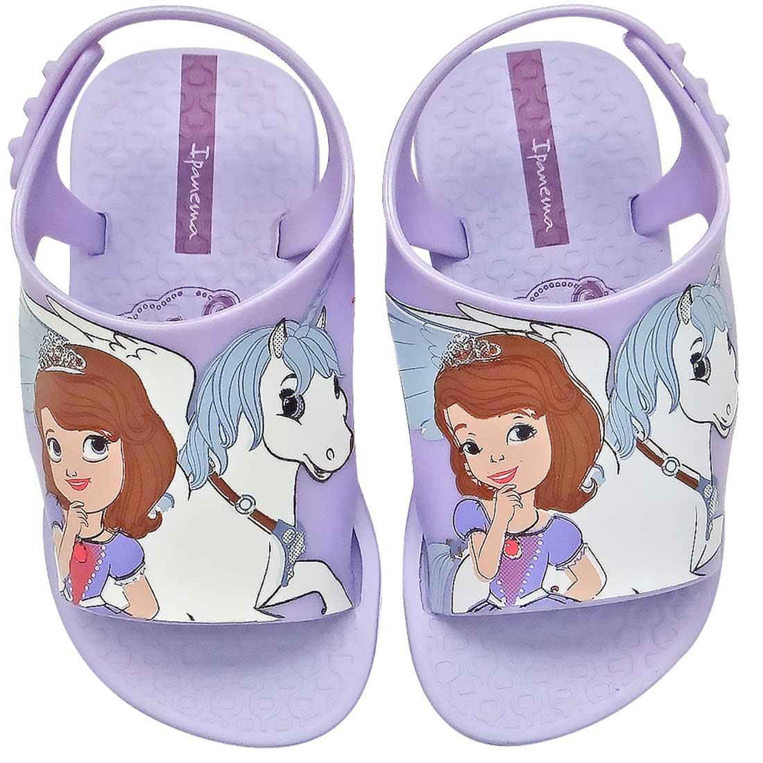 Sandália com Fechamento Traseiro Princesa Sofia - Lilás
