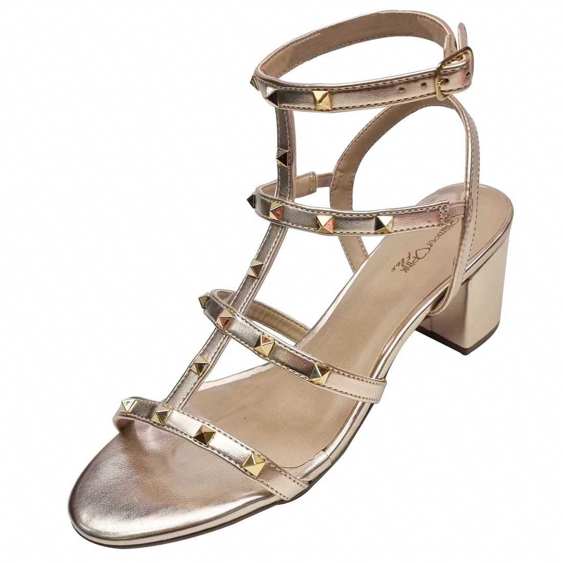 Sandália com Spikes - Ouro