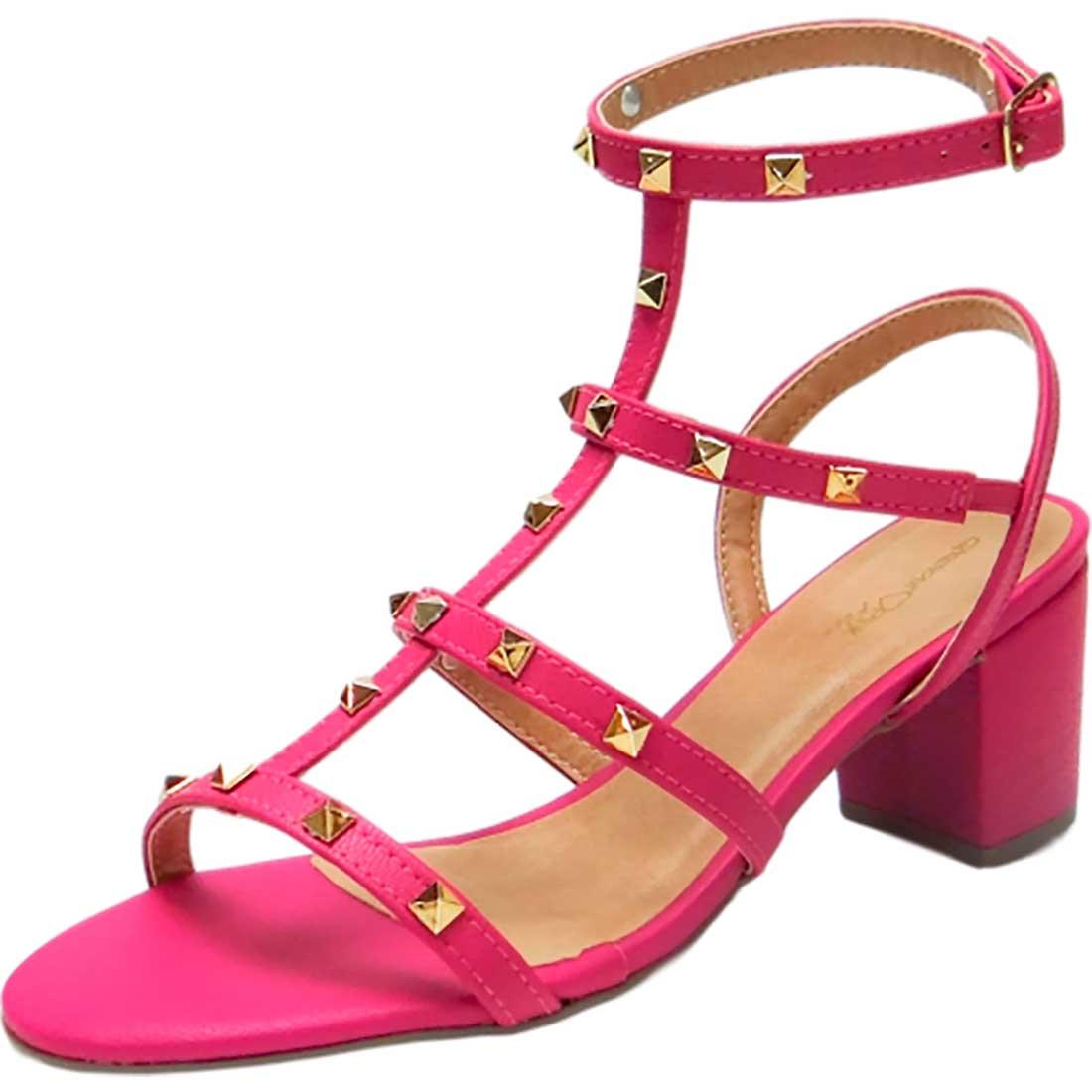 Sandália com Spikes - Pink