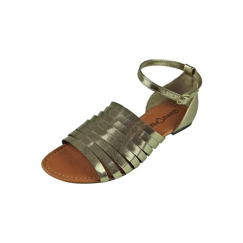 Sandália com Tiras - Dourada