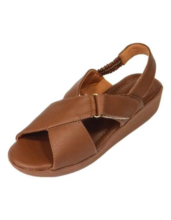 Sandália Comfort Cruzada - Caramelo