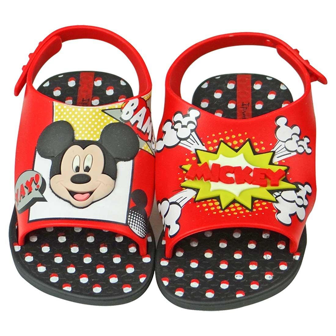 Sandália Ipanema Disney Baby Mickey - Vermelha e Preta