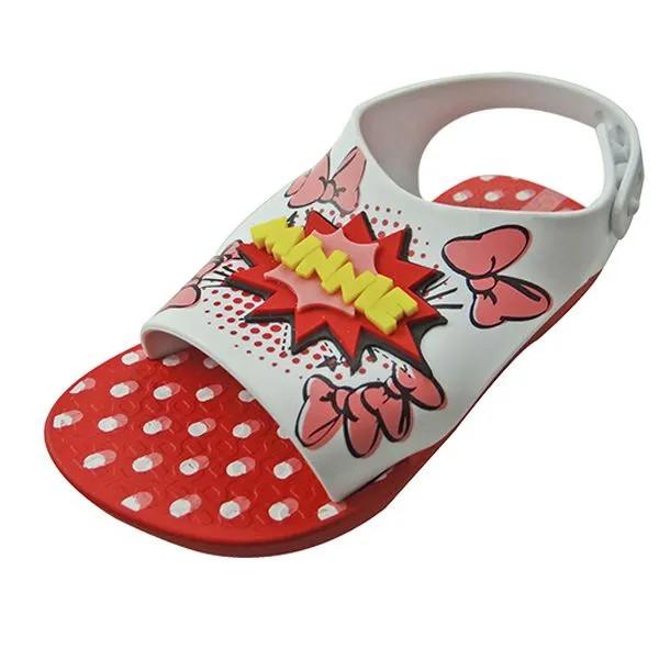 Sandália Ipanema Disney Baby Minnie - Branca e Vermelha