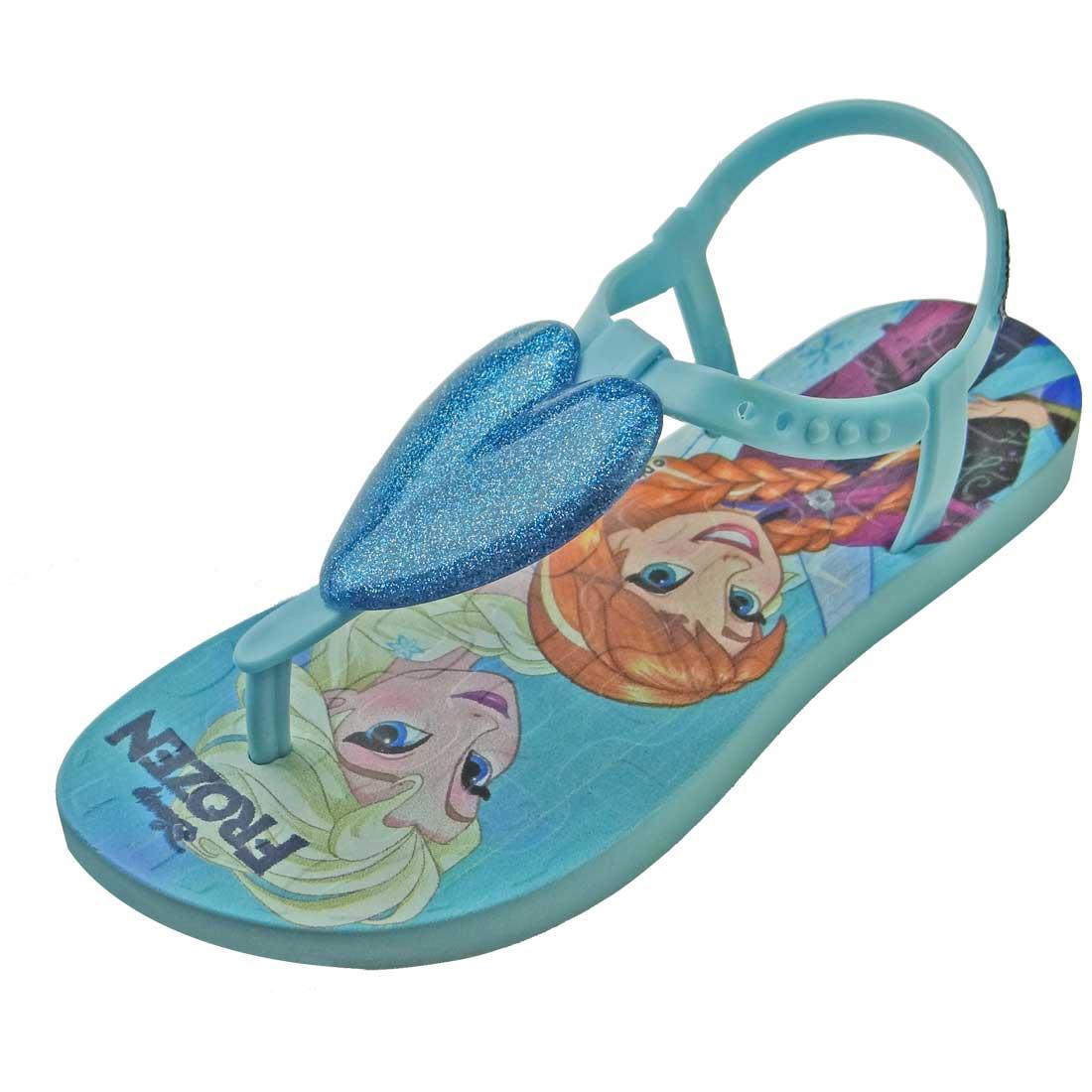 Sandália Ipanema Disney Frozen com Coração - Azul Bebê