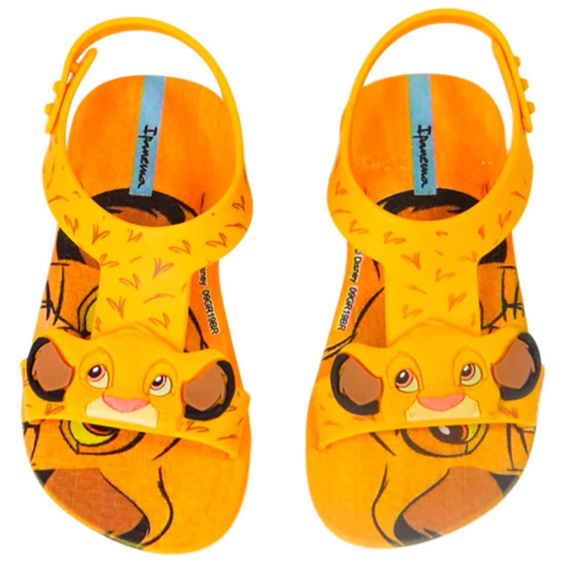 Sandália Ipanema Simba Rei Leão - Amarelo