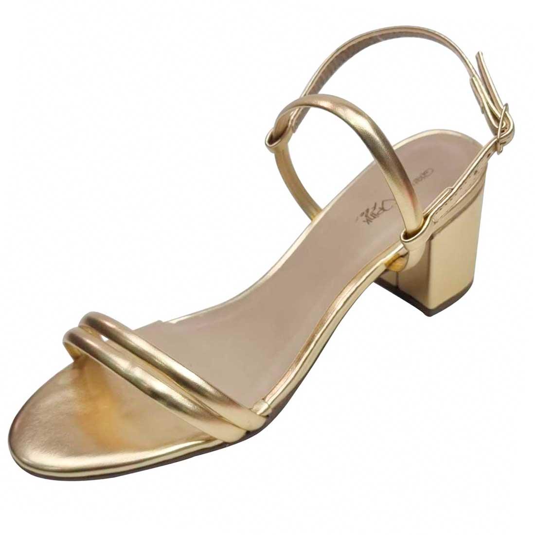 Sandália Metalizada - Ouro